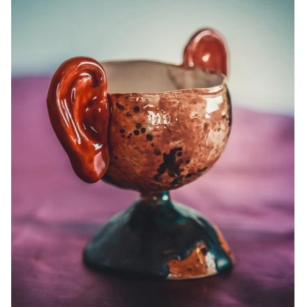 Чашка с ушами
