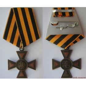 Крест Св. Георгия 3 степ. без номера на колодке с муаровой лентой