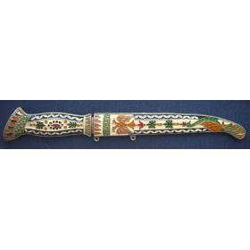 Нож декоративный с эмалями