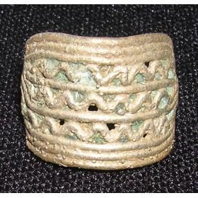 Перстень финно-угорский с волнами