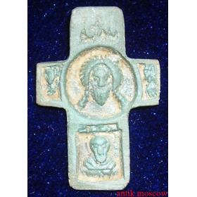 Крест с образом Спаса Нерукотворного нательный
