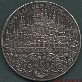 Медаль Германия центр Рейха 1938 год Посеребрение